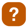 Icon of an orange button with a question mark inside