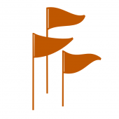 Graphic Icon of Three Flags