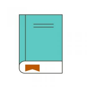 Drawing of a Closed Book with a Bookmark Showing at the bottom