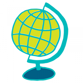 Drawing of a globe